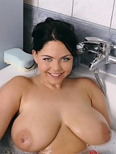 Czech Goddess Shione Cooper Gets Her Soapy Cleavage Fucked